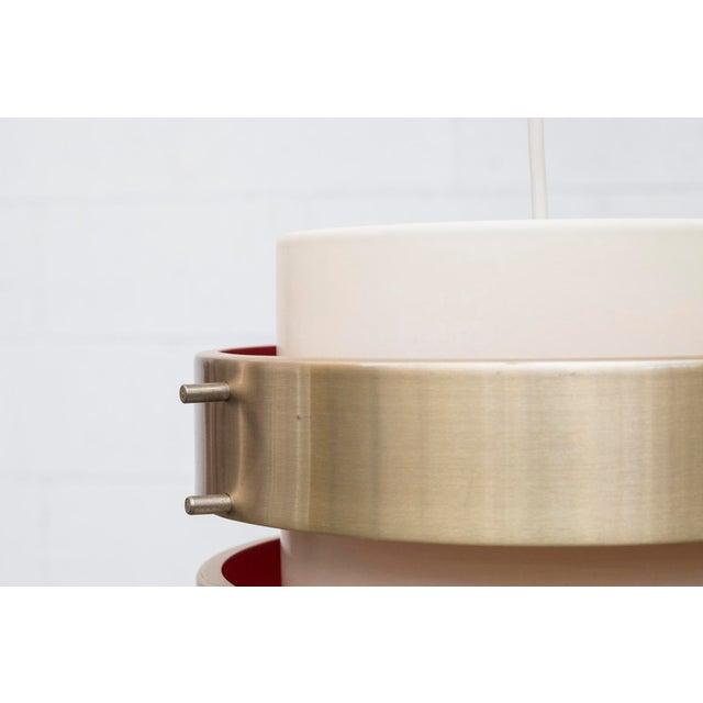 Image of Double Barrel Spun Aluminum Ceiling Lamp