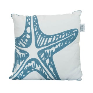 Spruce Starfish Square Pillow