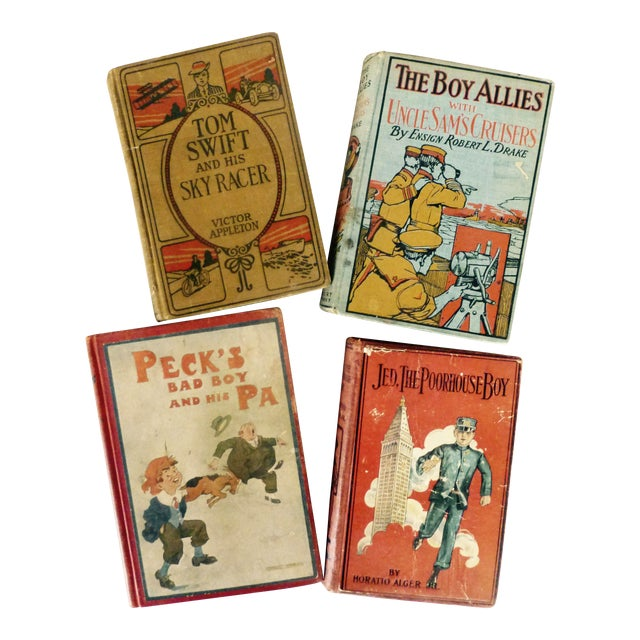 Collection of Antique Boys' Books - Set of 4 - Image 1 of 10
