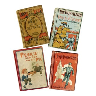 Collection of Antique Boys' Books - Set of 4