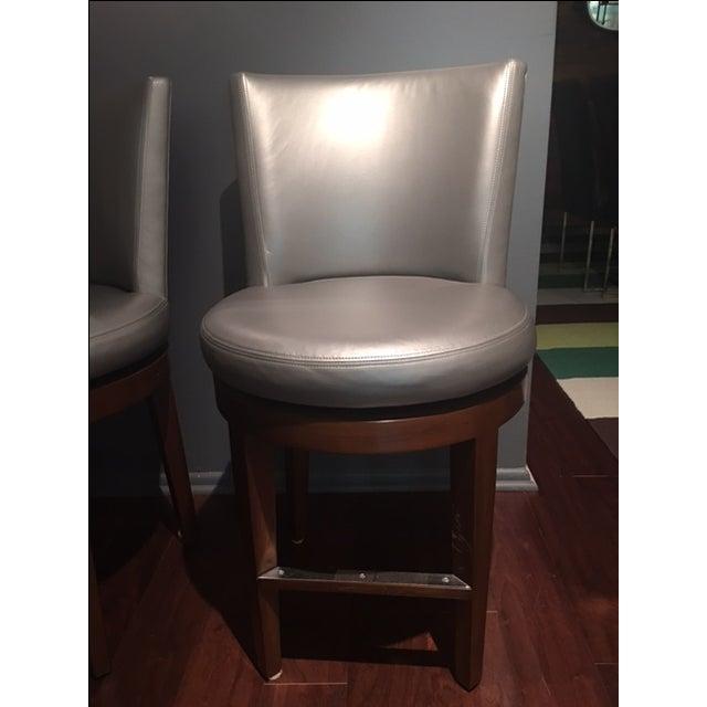 A Rudin Metallic Gray Swivel Counter Stools S 3 Chairish