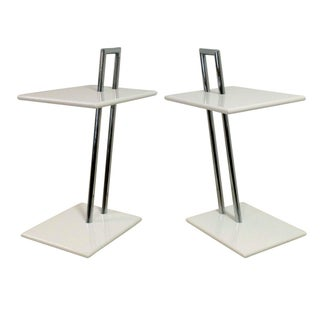 vintage eileen gray occasional tables a pair. Black Bedroom Furniture Sets. Home Design Ideas