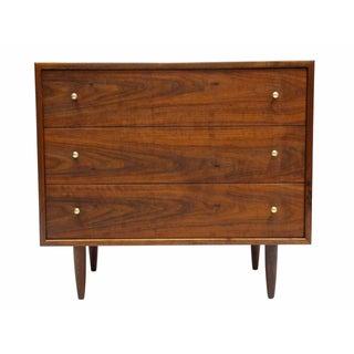 Walnut Three-Drawer Bachelor Dresser Chest