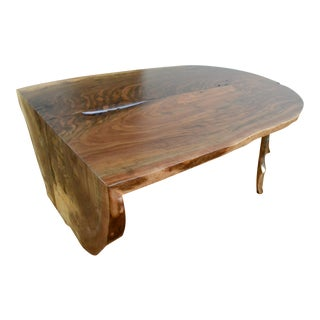 Waterfalled Walnut Slab Coffee Table