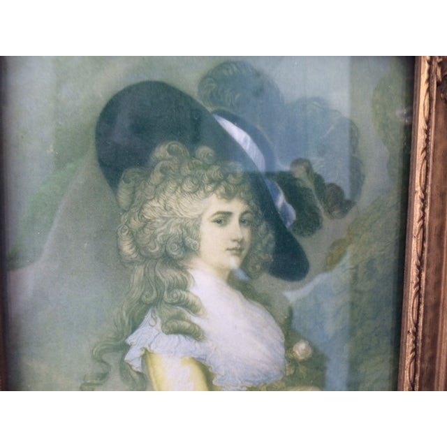 Trumeau Mirror with 18th Century Woman - Image 5 of 6