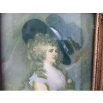 Image of Trumeau Mirror with 18th Century Woman
