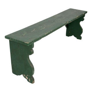 Antique Painted Wood Bench