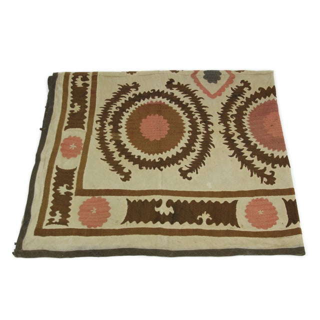 Antique Suzani Throw - Image 5 of 7