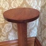 Image of Antique Oak Plant Stand