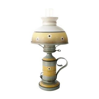 Vintage Toleware Lamp, Early American Style