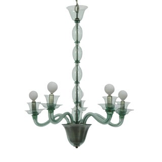 Green Murano Glass Chandelier