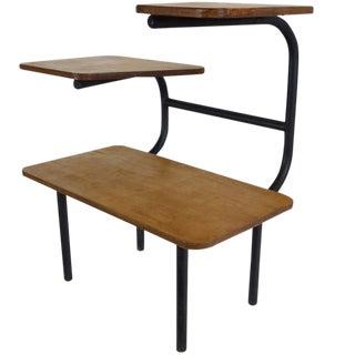 Bauhaus Style Tubular Three-Tiered Side Table