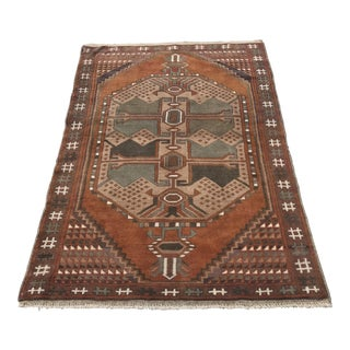 Vintage Persian Shiraz Area Rug - 4' x 5'2""