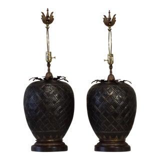John Richard Brass Table Lamps - A Pair