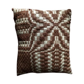 Hand-Woven Early American Fragment Pillow