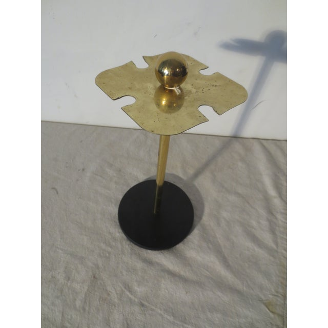 Image of 70s Brass Bar Tool Stand With Tools