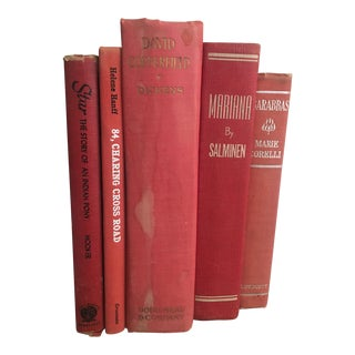 Mid-Century Modern Red Books - Set of 5