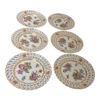 Antique European Porcelain Plates - Set of 6