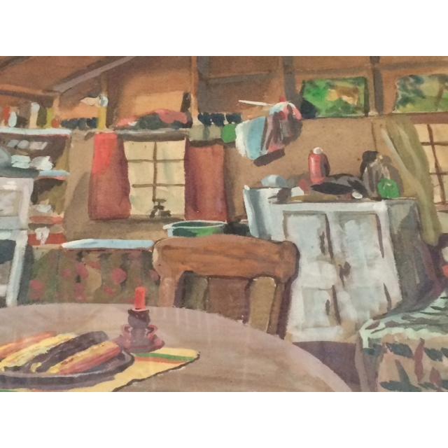 """Peter Driben Watercolor """"Retreat"""" - Image 5 of 6"""