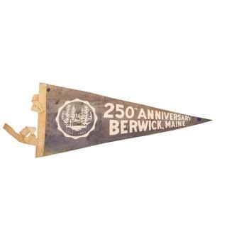 250th Anniversary Berwick, Maine Felt Flag