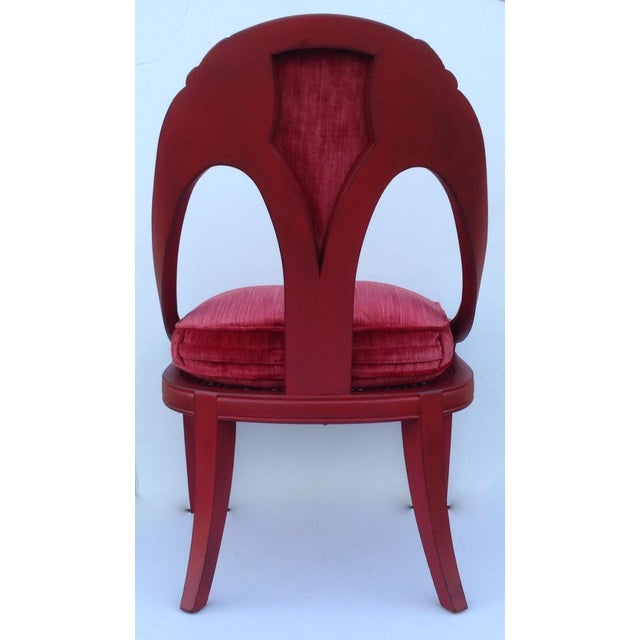 Michael Taylor for Baker Red Spoon Back Chair - Image 6 of 11
