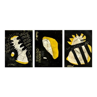 Wasp Triptych Original Acrylic Painting - Set of 3