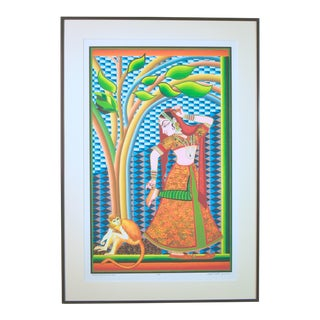 Indian Dancer With Tree Giclee Print