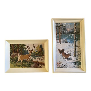 Vintage Paint by Numbers Nature Scenes - A Pair