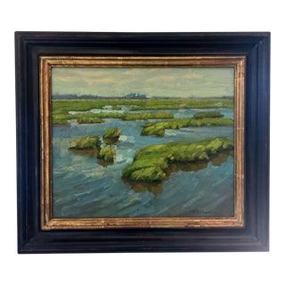 "Gordon M. Allen ""Blustery Blackwater"" Original Oil Painting"