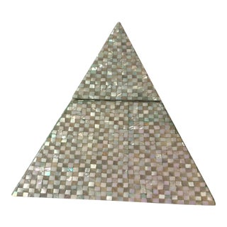 Pyramid Mother of Pearl Storage Box