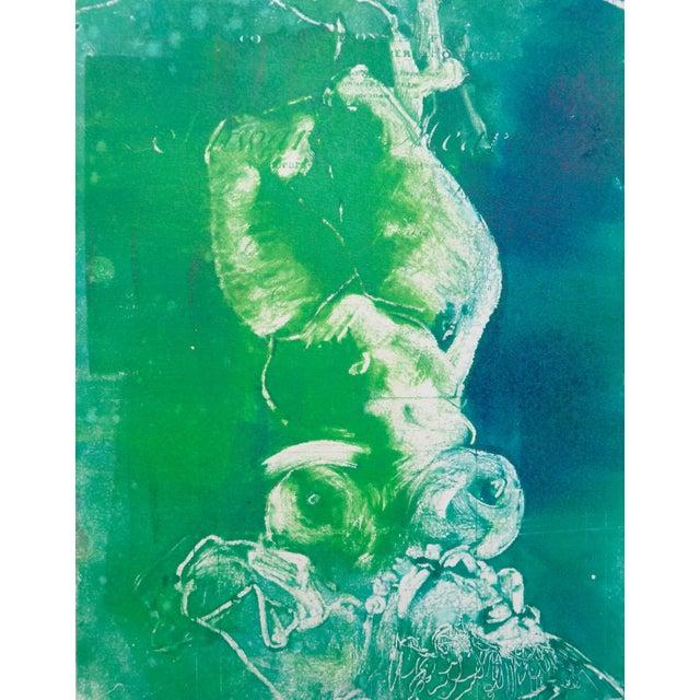 Mermaid in Green Monoprint - Image 3 of 4