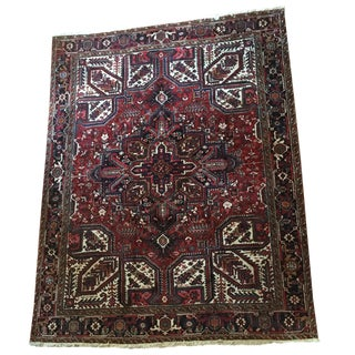 "Old Persian Heriz Rug - 8'7"" x 11'4"""