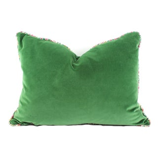 Velvet and Sari Pillow