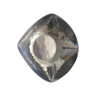 Hammered Silver Steel Square Bowl