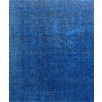 "Image of Blue Vintage Overdyed Rug - 9' 5"" X 11' 5"""