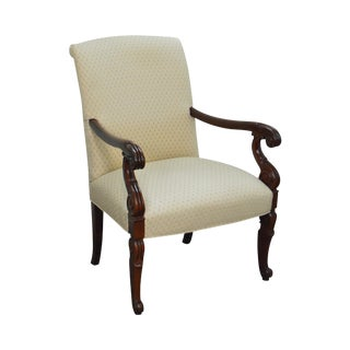 Hickory Chair Solid Mahogany Frame Empire Style Arm Chair
