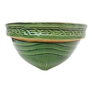 Antique Green Roseville Pottery Crock Bowl