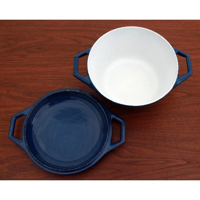Vintage Blue Michael Lax for Copco Danish Modern Cast Iron Dutch Oven - Image 6 of 8