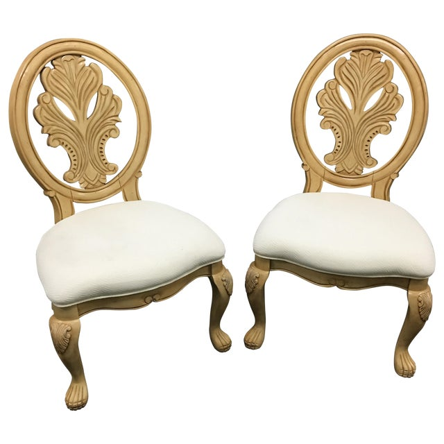 Classical-Style Side Chairs- A Pair - Image 1 of 10