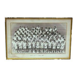 1968 Vintage Tennis Camp Photo