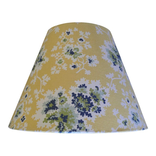 Custom Lampshades in Tilton Fenwick Fabric - a Pair - Image 1 of 5