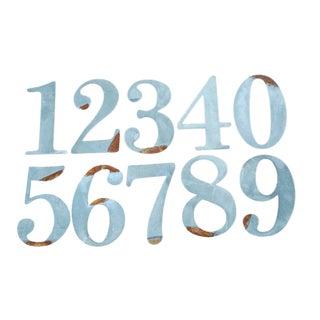 Metal Numbers - Set of 10
