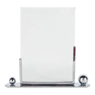 Art Deco Polished Chrome Picture Frame with Asymmetrical Detailing