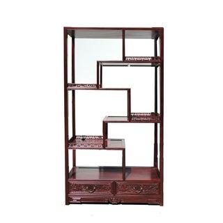 Oriental Rosewood Display Curio Cabinet Divider