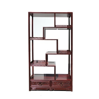 Oriental Rosewood Display Curio Cabinet Divider