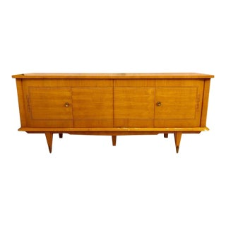 French Blond Mahogany Art Deco Style Inlaid Sideboard