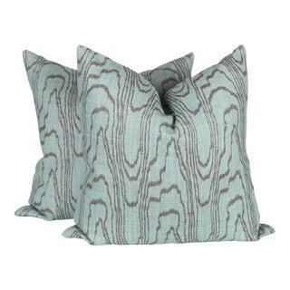 Agate Teal Pillows - A Pair