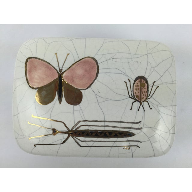 Image of Mid-Century California Ceramic Insect Box