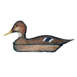 Arthur Nevin Print of a Mallard Hen Duck Decoy, Bay Head, NJ.