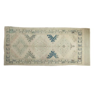 "Vintage Distressed Oushak Rug Runner - 4'10"" x 10'10"""